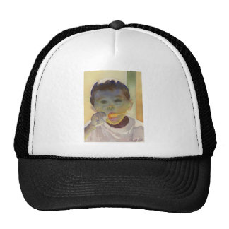 """Contemporary Watercolor Painting """"Orange Popsicle"""" Trucker Hat"""