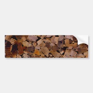 Contemporary Wood chip design Bumper Sticker