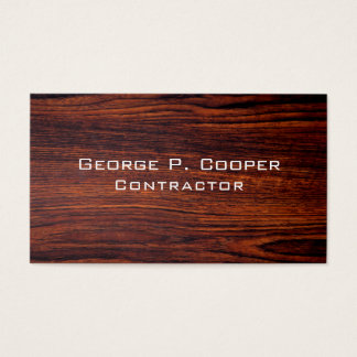 Contemporary Wood  design Business Card