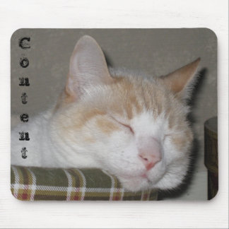 """Content""  Sleeping Cat Mouse Pad"