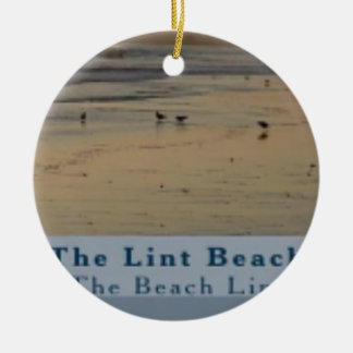 content The Lint Beach TLB Round Ceramic Ornament