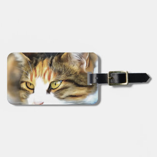 Contented Cat Luggage Tag
