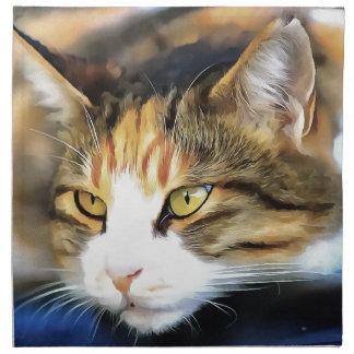 Contented Cat Napkin