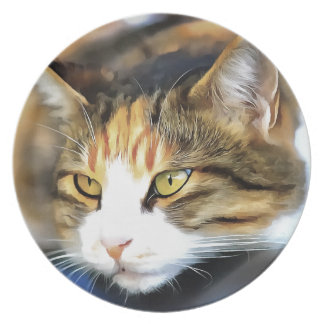 Contented Cat Plate