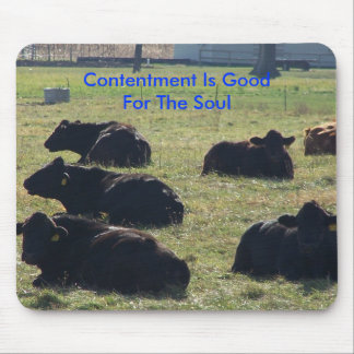 Contentment Is Good For The Soul Mouse Pad