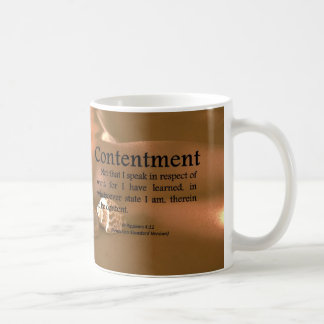 Contentment Philippians 4-11 Coffee Mug