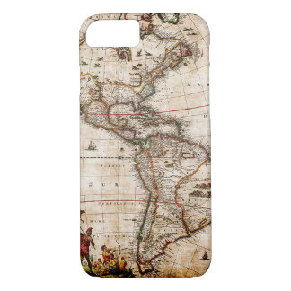 Continent of America Old Map iPhone 8/7 Case