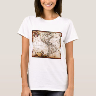 Continent of America Old Map T-Shirt