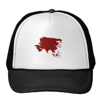 Continent of Asia Mesh Hats