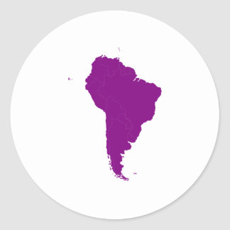 Continent of South America Classic Round Sticker