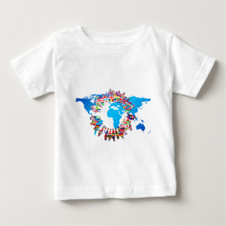 Continent People Flag Circle Baby T-Shirt