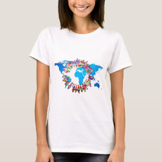 Continent People Flag Circle T-Shirt
