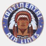 Continental Airlines Vintage sign Round Sticker