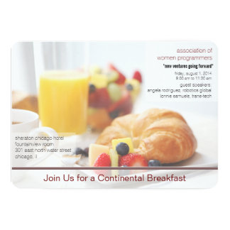 continental breakfast meeting invitation
