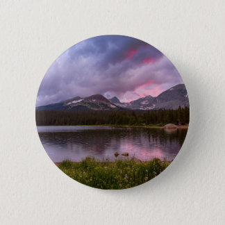 Continental Divide Stormy Rainy Sunset Sky 2 Inch Round Button