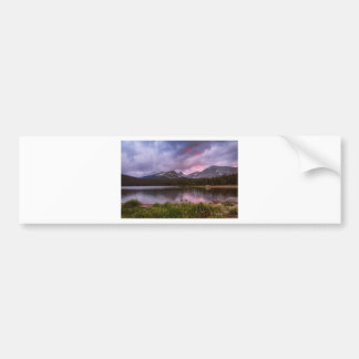Continental Divide Stormy Rainy Sunset Sky Bumper Sticker