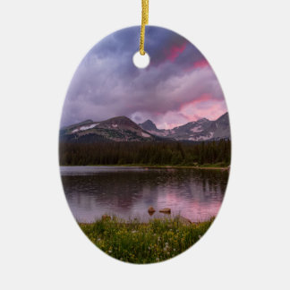 Continental Divide Stormy Rainy Sunset Sky Ceramic Ornament