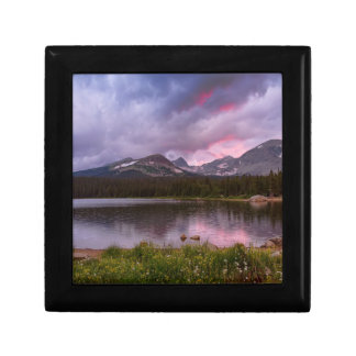 Continental Divide Stormy Rainy Sunset Sky Gift Box