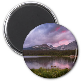 Continental Divide Stormy Rainy Sunset Sky Magnet