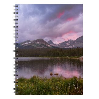 Continental Divide Stormy Rainy Sunset Sky Notebooks