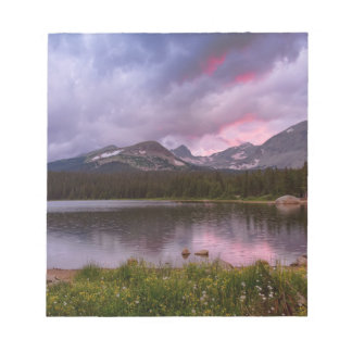 Continental Divide Stormy Rainy Sunset Sky Notepad