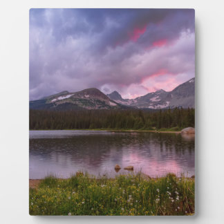 Continental Divide Stormy Rainy Sunset Sky Plaque