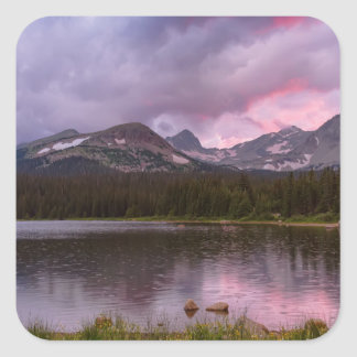 Continental Divide Stormy Rainy Sunset Sky Square Sticker