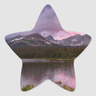 Continental Divide Stormy Rainy Sunset Sky Star Sticker