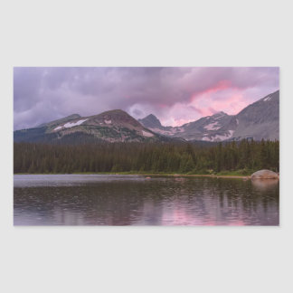Continental Divide Stormy Rainy Sunset Sky Sticker