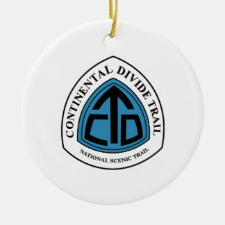 Continental Divide Trail Sign, USA Ceramic Ornament