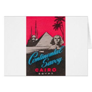 Continental Savoy Cairo Egypt Card
