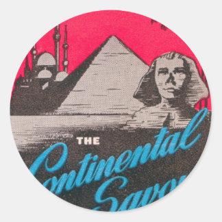 Continental Savoy Cairo Egypt Classic Round Sticker