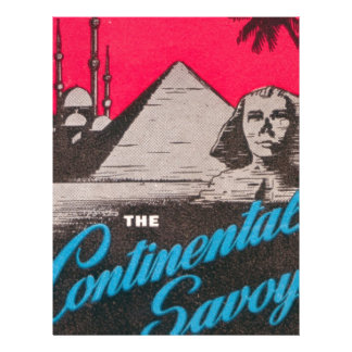 Continental Savoy Cairo Egypt Letterhead