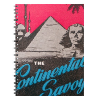 Continental Savoy Cairo Egypt Notebook