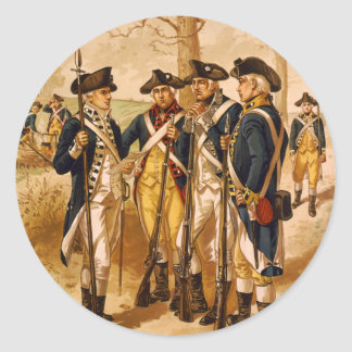 Continental Soldiers by Henry Alexander Ogden Classic Round Sticker