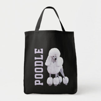 Continental Trim Poodle Illustrated Grocery Bag