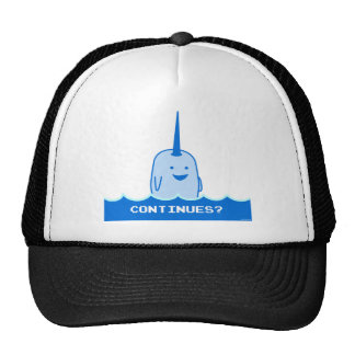 Continues? The Happy Narwhal Trucker Hat