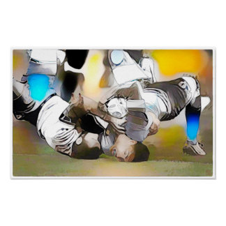 Contortion - Rugby Watercolour Print