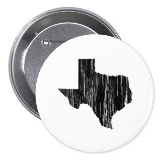 Contour affligé d'état du Texas Macaron Rond 7,6 Cm
