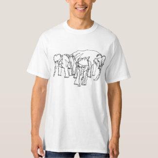 Contour Elephants on Light Color T-Shirt