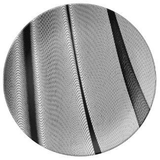 Contour Lines Porcelain Plates