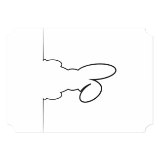Contour of a hare card