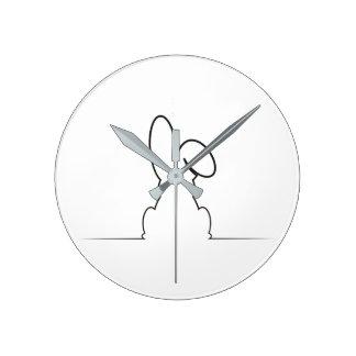 Contour of a hare clocks