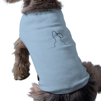 Contour of a hare doggie tshirt