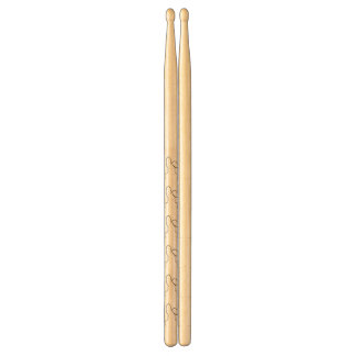 Contour of a hare drum sticks