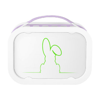 Contour of a hare light gre lunch boxes