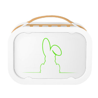 Contour of a hare light gre lunchbox