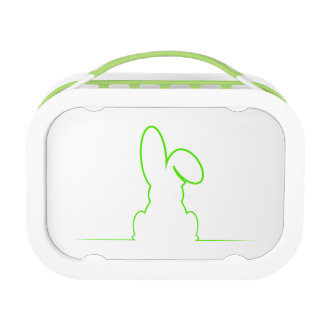 Contour of a hare light gre lunchboxes