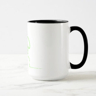 Contour of a hare light gre mug