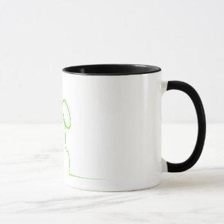 Contour of a hare light gre mug
